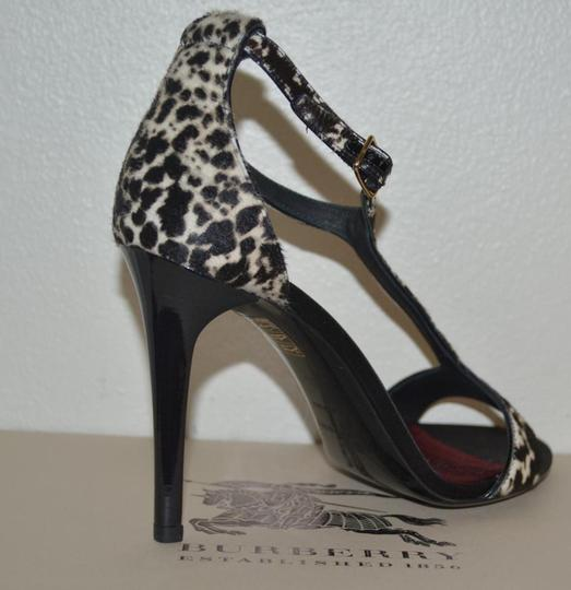 Burberry Prorsum Round Toe Leopard Pony Multi Color Sandals Image 3