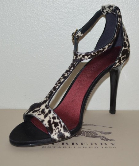 Burberry Prorsum Round Toe Leopard Pony Multi Color Sandals Image 4