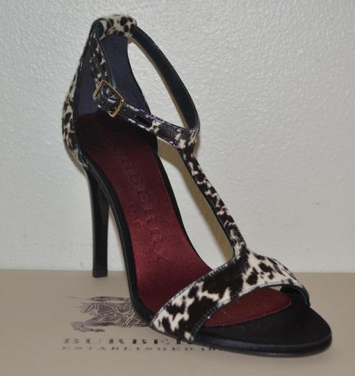 Burberry Prorsum Round Toe Leopard Pony Multi Color Sandals Image 6
