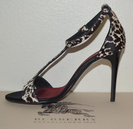 Burberry Prorsum Round Toe Leopard Pony Multi Color Sandals Image 7