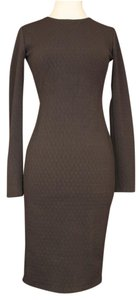 Forever 21 Cocktail Bodycon Wear To Work Zipper Jersey Knit Dress