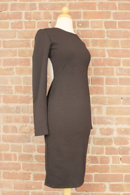 Forever 21 Cocktail Bodycon Wear To Work Zipper Jersey Knit Dress Image 7
