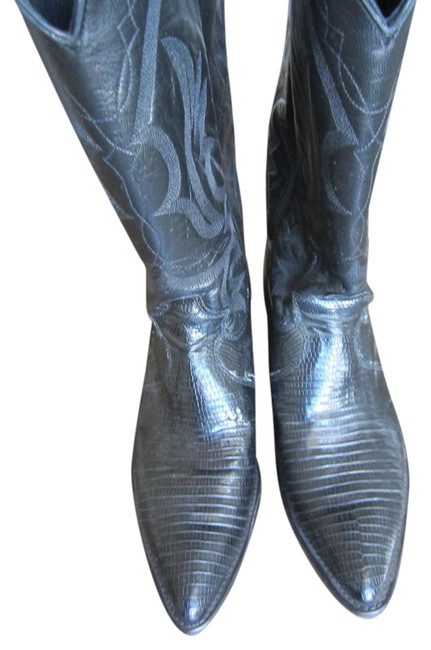 Justin Boots Black Cowboy Boots/Booties Size US 8.5 Regular (M, B) Justin Boots Black Cowboy Boots/Booties Size US 8.5 Regular (M, B) Image 1