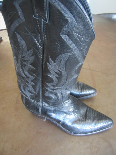 Justin Boots Black Boots Image 1