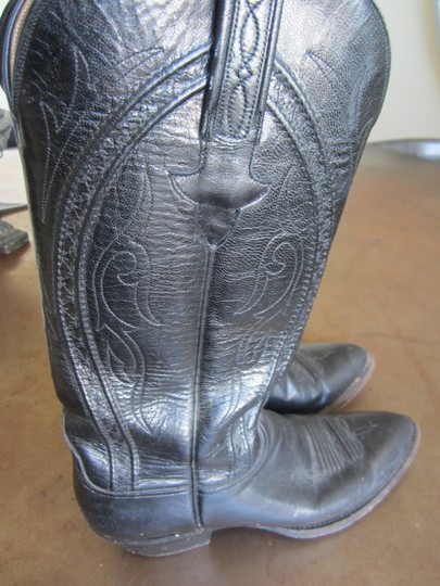 Lucchese Black Boots Image 1
