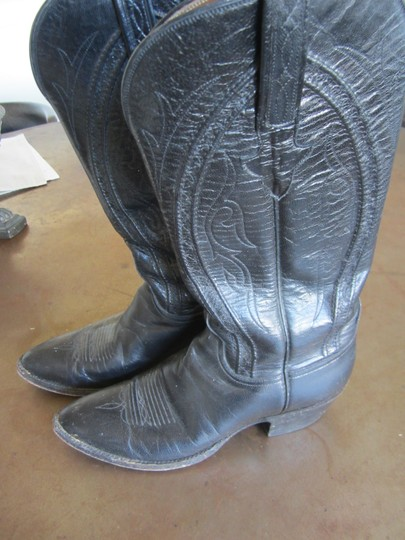 Lucchese Black Boots Image 3