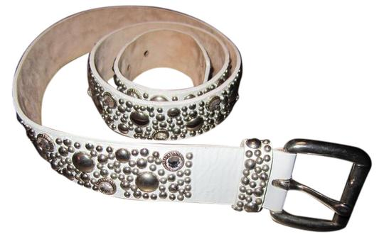 Preload https://img-static.tradesy.com/item/22112884/streets-ahead-white-leather-with-swarovski-crystals-and-studs-belt-0-1-540-540.jpg