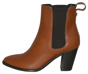 Burberry Ankle Leather Chestnut Boots