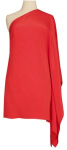 Jay Godfrey A-line Shift One Shoulder Silk Dress