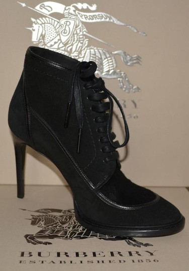 Burberry Prorsum Suede Ankle Black Boots Image 3
