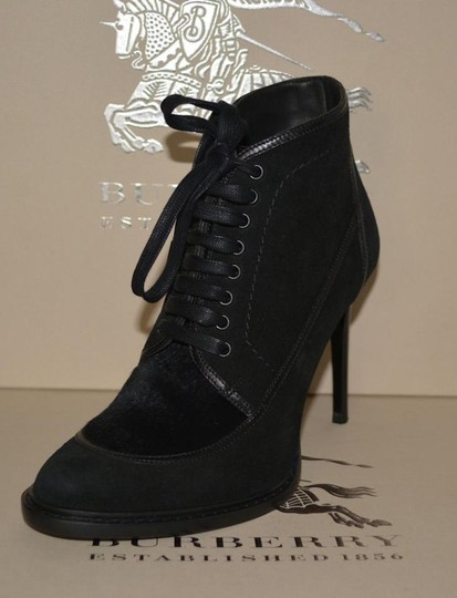 Burberry Prorsum Suede Ankle Black Boots Image 4