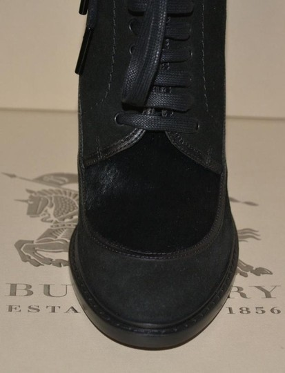 Burberry Prorsum Suede Ankle Black Boots Image 5