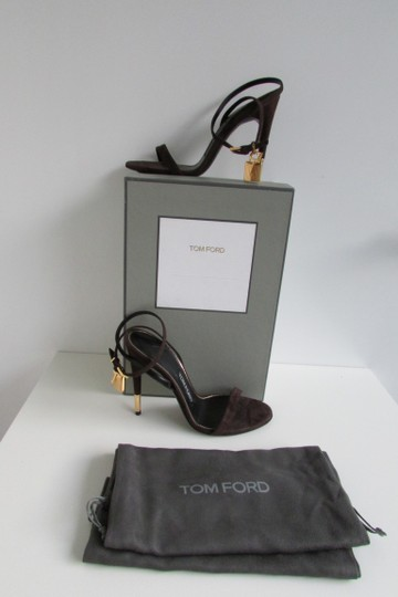 Tom Ford Brown Suede Padlock Sandals Image 1