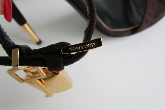 Tom Ford Brown Suede Padlock Sandals Image 2