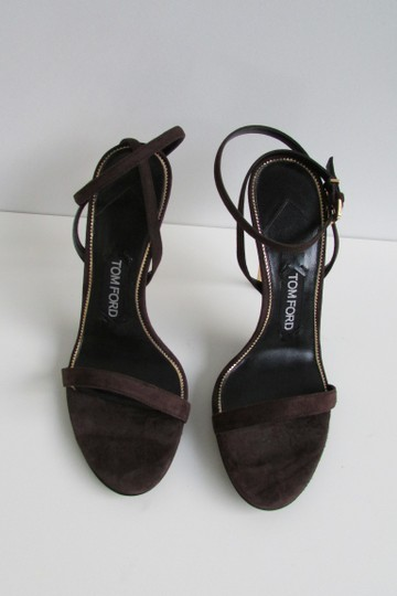 Tom Ford Brown Suede Padlock Sandals Image 5