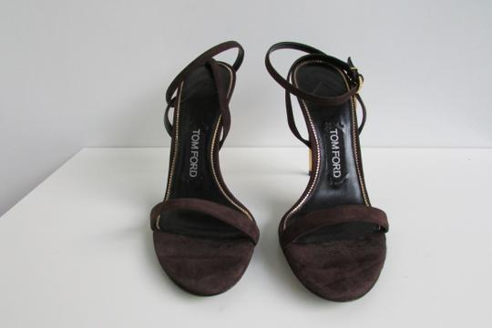 Tom Ford Brown Suede Padlock Sandals Image 6