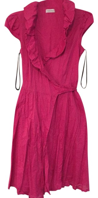 Item - Pink Wrap Mid-length Work/Office Dress Size 8 (M)