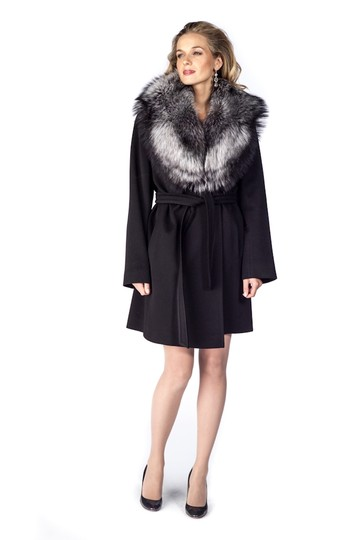 madisonavemall Natural Silver Fox Fur Collar Image 1