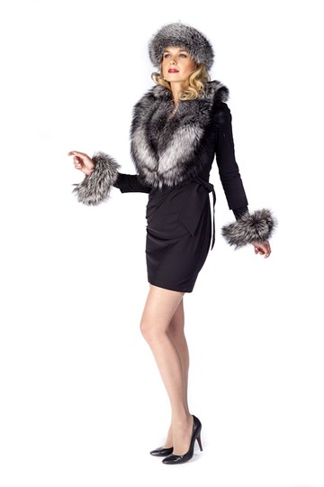 madisonavemall Natural Silver Fox Fur Collar Image 2