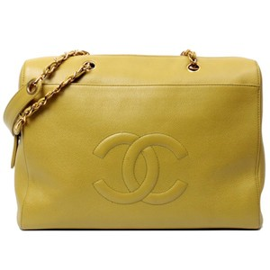 Chanel Vintage Caviar Tote in Yellow