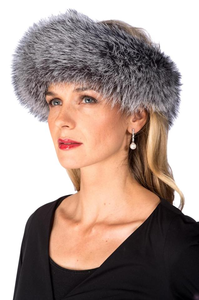 Grey Fur Headband - Silver Fox Headband Hat - Tradesy 62531d9d024