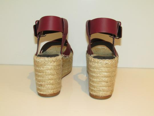 Céline Burgundy Leather Criss Cross Sandals Image 1