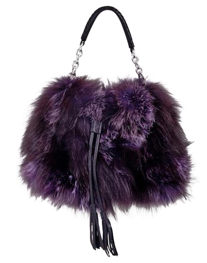 Preload https://img-static.tradesy.com/item/22113696/silver-fox-fur-handbag-fringed-leather-purple-shoulder-bag-0-2-540-540.jpg