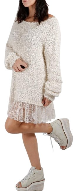 Item - Tweed Lace White Sweater