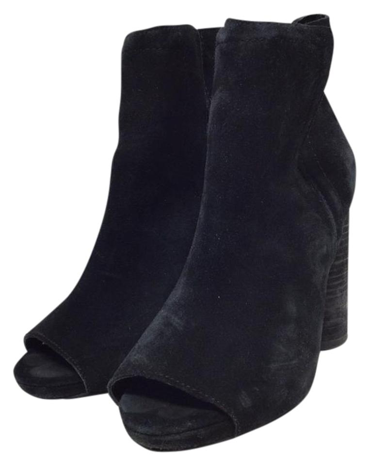 Jeffrey Campbell Black Oath Suede Boots/Booties Open Boots/Booties Suede b09d88