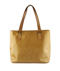 Louis Vuitton Patent Leather Tote in TanxGold