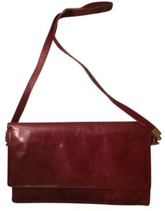 Italpell Vintage red Clutch
