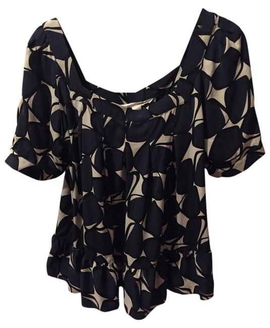 Diane von Furstenberg Top Black, Navy, Multi