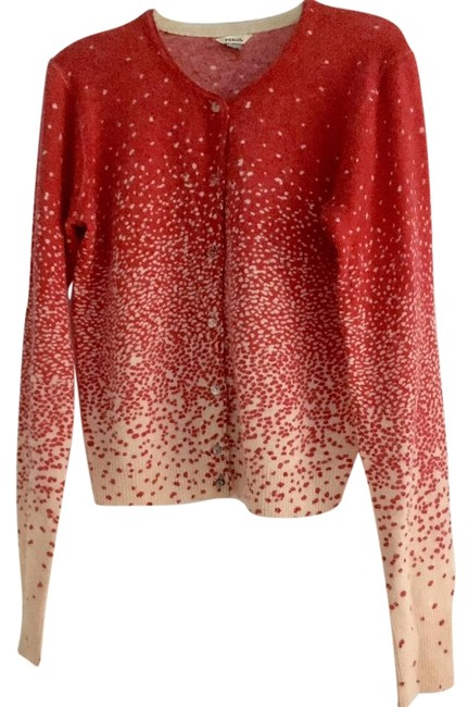 Preload https://img-static.tradesy.com/item/22114093/fossil-red-and-beige-confetti-cardigan-sweaterpullover-size-4-s-0-1-650-650.jpg