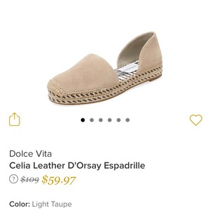 Dolce Vita Beige (Light Taupe) Flats