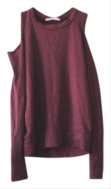 Preload https://img-static.tradesy.com/item/22114343/stateside-burgundy-red-cold-shoulder-jumper-sweatshirthoodie-size-2-xs-0-1-650-650.jpg