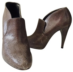 Rebecca Taylor Leather Taupe Leather Boots