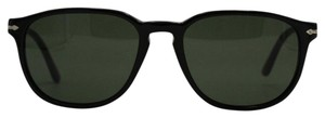 Persol Square Black/Silver Sunglasses 3019-S 95/31