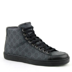 Gucci Gray Imprime Canvas Hi Tops with Guccissima Pattern 8.5g / Us 9 325371 1096 Shoes