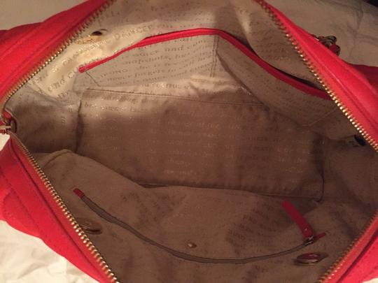 Kate Spade Quilted Leather Satchel Tote in Pink