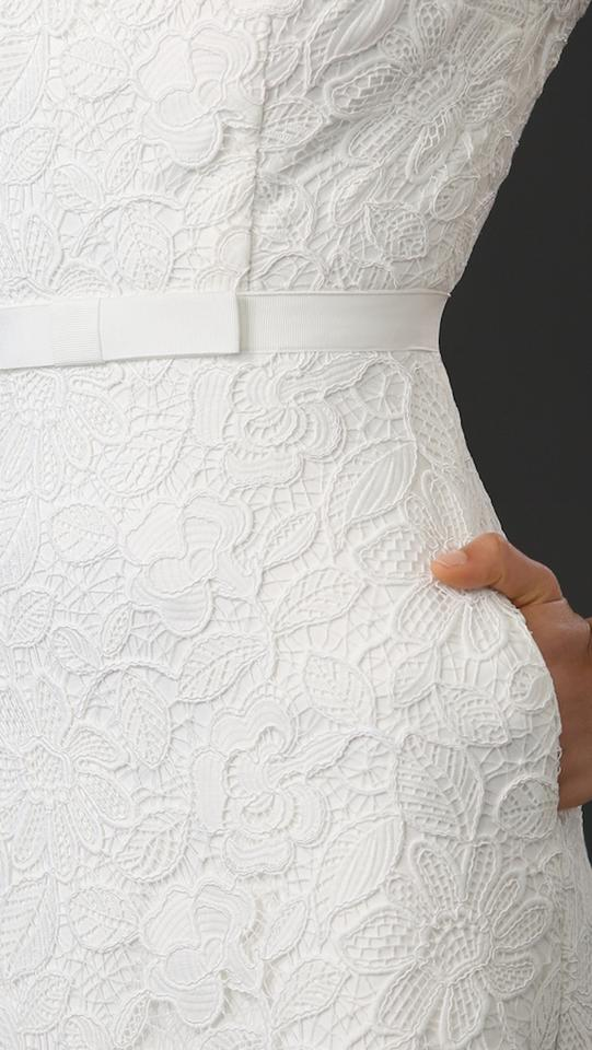 84b152d10c3b self-portrait White New with Tags Rose Lace Open Back Gown Bridal Wedding  Dress Size. 12345678910