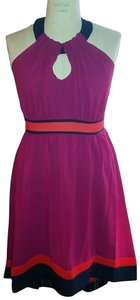 Miss Sixty Hig-low Halter Silk Dress