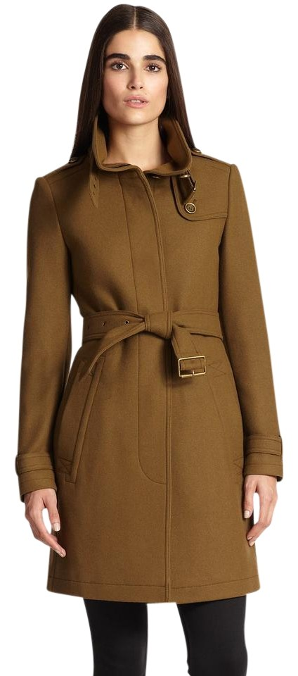 Burberry Brown Belted Rushworth Wool Blend Coat Size 10 (M) - Tradesy c2431cf01