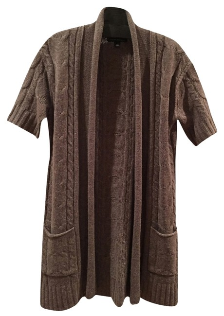 Preload https://item2.tradesy.com/images/banana-republic-taupe-duster-length-short-sleeve-cable-knit-open-cardigan-sweaterpullover-size-4-s-2211501-0-0.jpg?width=400&height=650