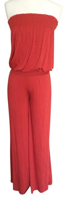 Preload https://item3.tradesy.com/images/mai-tai-rustic-red-strapless-jersey-long-romperjumpsuit-size-8-m-2211512-0-0.jpg?width=400&height=650