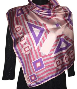 Adolfo Silk Abstract Scarf