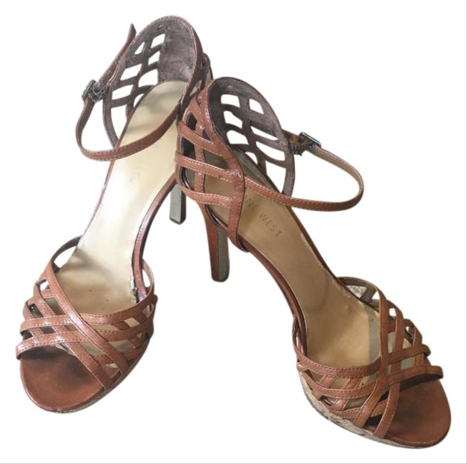 3f0fc8422e896 Nine West Brown Strappy Sandals Size US 8 Regular (M