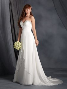 Alfred Angelo White 2564 Wedding Dress Size 8 (M)