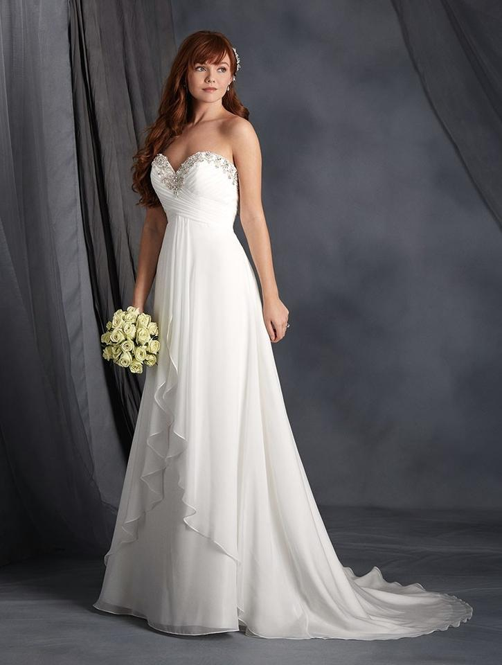Alfred Angelo White 2564 Wedding Dress Size 8 (M) - Tradesy