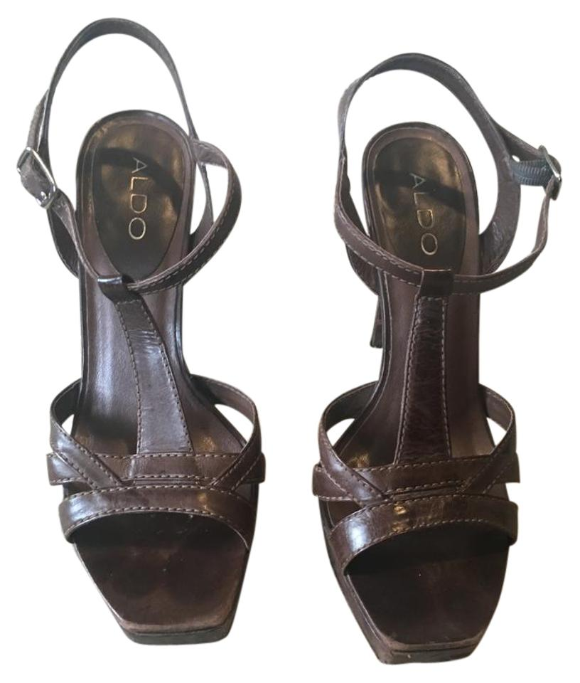 9e53ca58fc7a ALDO Brown Strappy High Heels Sandals. Size  US 8 Regular (M ...