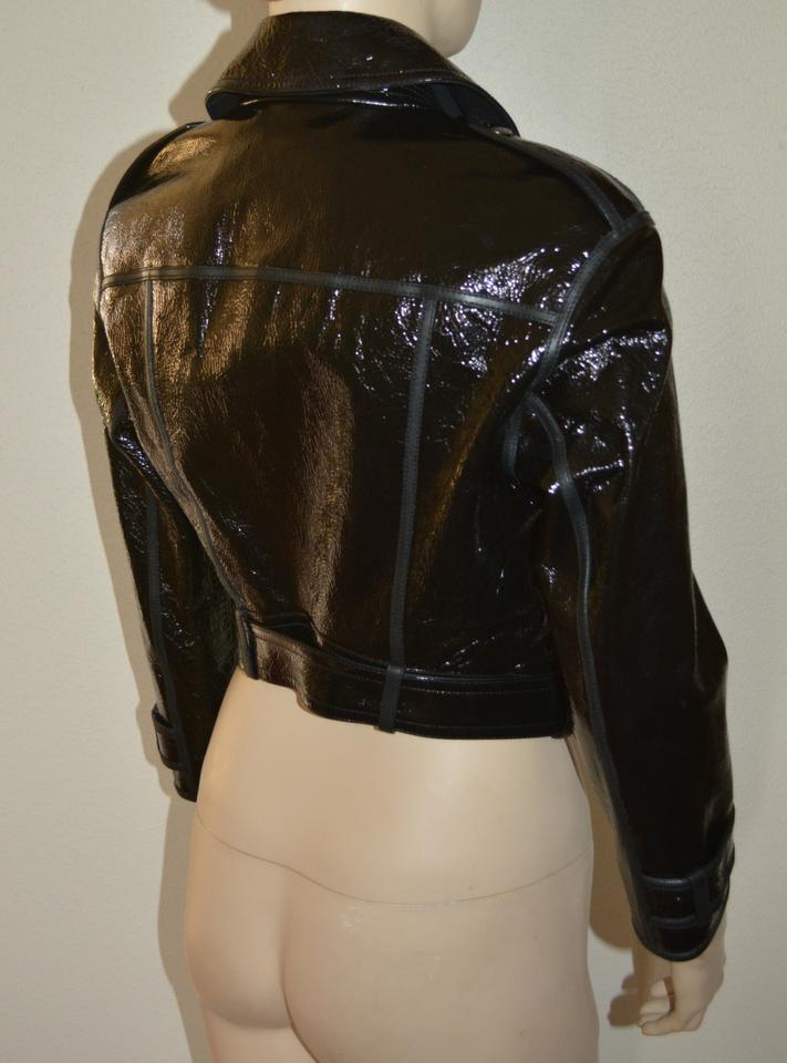 87f739bb0 Burberry Black Leather Cropped Biker Coat Us Eu 40 Italy Jacket Size 6 (S)  69% off retail